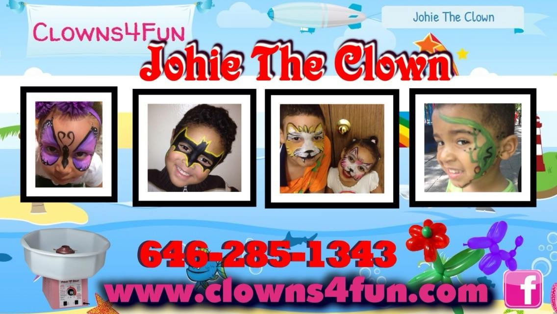 Business cards johie the clown business cards colourmoves
